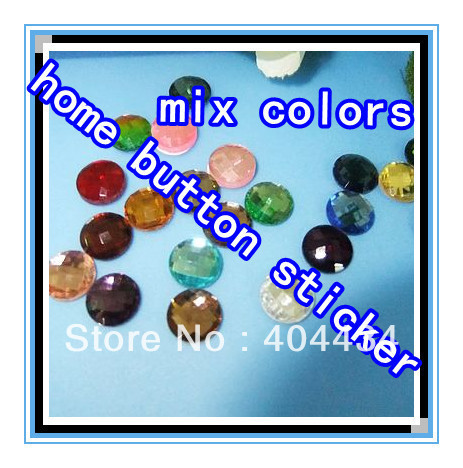 crystal home button stickers bling diamond stickers for phone iphone IPAD mix colors so beautiful 200pc/lot