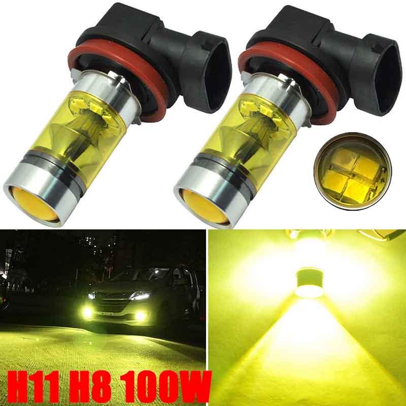 Желтые светодиодные лампы для автомобилей