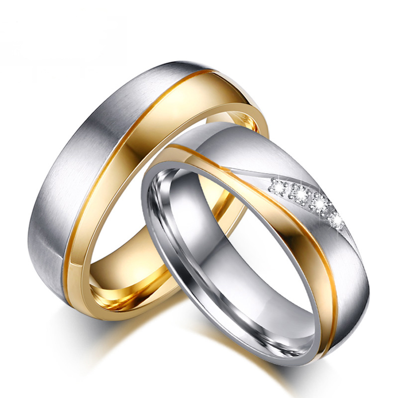 Aliexpresscom buy 2016 wedding rings for women men gold for Wedding gold rings for men