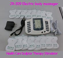 JR309 assistenza sanitaria muscolo stimolatore elettrico massageador decine macchina di terapia di agopuntura slimming massager del corpo 16 pz pastiglie(China (Mainland))