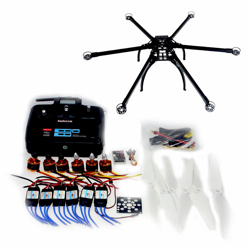F10513-C QQ SUPER Control Board Version Six-Axis Folding Hexacopter Aircraft Unassembled Frame Kit 6CH TX&amp;RX ESC Motor  <br>