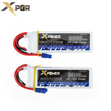 Lipo 11.1V 3s 3000mAh battery 30C max 35C EC3 plug 2pcs Xpower lithium batteries for RC Helicoptes Airplane drone parts