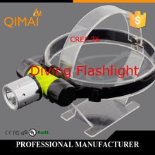 Free Shipping! Headlamps Diving Flashlight LED Battery 1×18650 or 3x AAA  CREE XML-T6 Waterproof