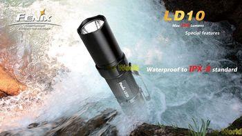 Free Shipping  Fenix LD10 Flashlight CREE R5 LED Mini LED Torch Outdoor Sports Hand Light Gift Torch
