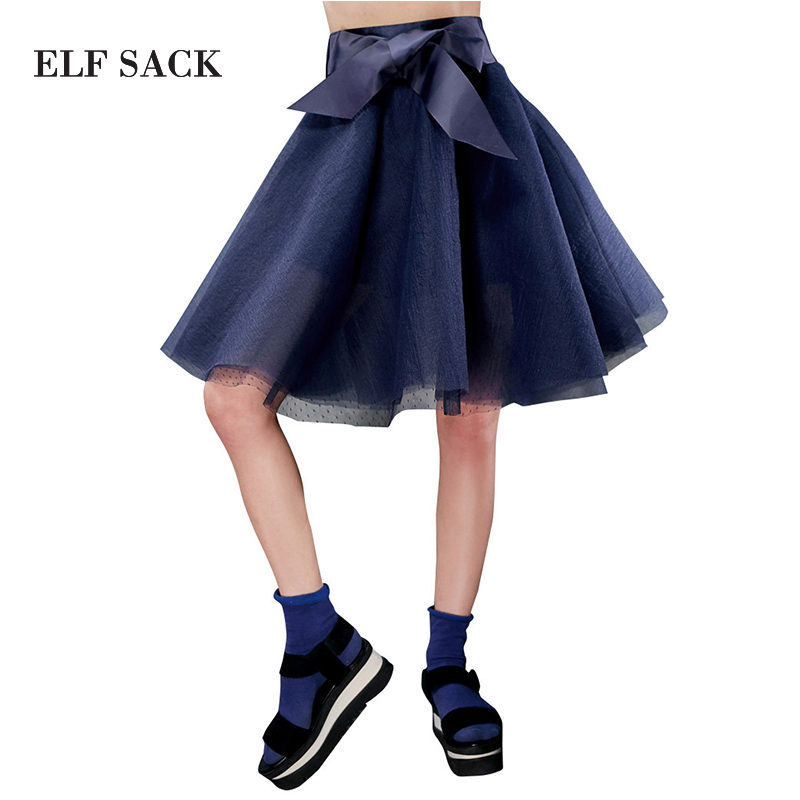 ELF SACK fashion brand new arrival 2015 young girl summer sweet bow bust skirt ball gown pure color all-match free shippingОдежда и ак�е��уары<br><br><br>Aliexpress