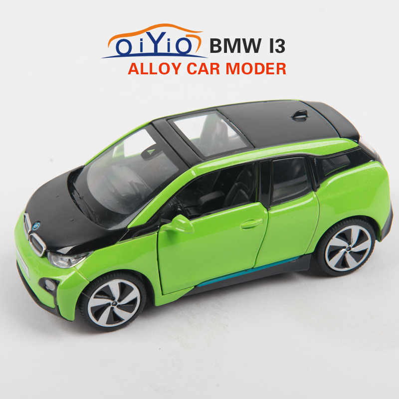 BMW I3 Car Model Vehicle 1:32 Toy Vehicles Alloy Diecast Kid Toy Car Gift Pull Back with Light Music Doors Can Open VB32243(China (Mainland))