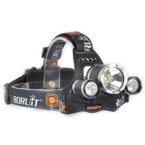 Купить Boruit RJ-5000 4 Режим 3x XML L2 СВЕТОДИОДНЫЕ Фары Фары Luces де Кабеза Фонарик Головной Лампы Отдых На Природе Света + Зарядное Устройство