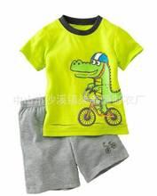 Buy Dinosaur Pajamas 2-7T Boys Girls Pyjamas Children's Pijamas Kids Short Sleeve Cartoon Sleepwear Summer Bebe Clothing for $5.80 in AliExpress store
