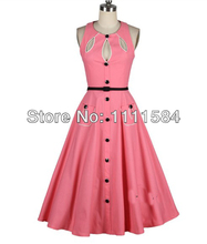 free shipping 50'S Large Selection of Rockabilly Dresses Product faux vintage pin-up 8 - 24 vintage dress au(China (Mainland))