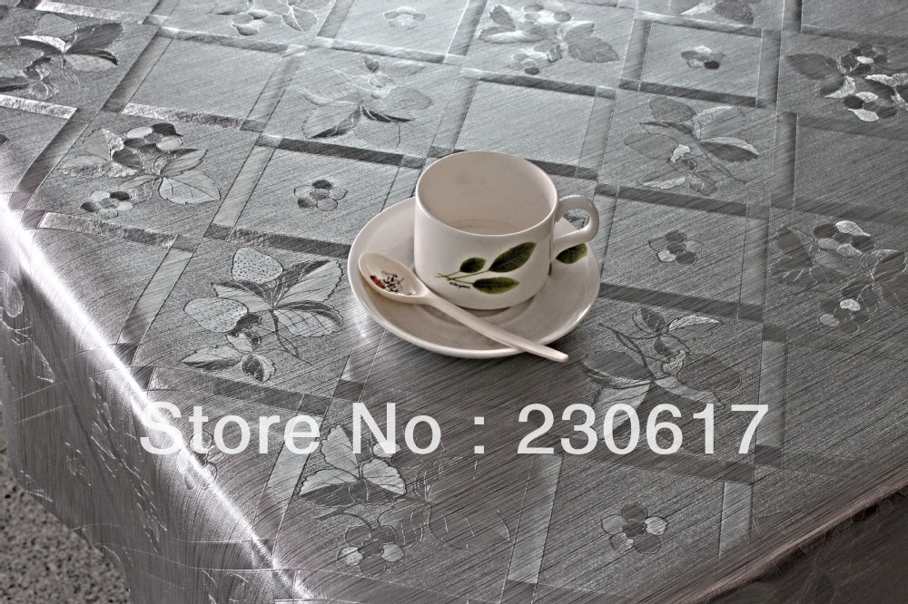 Pw182-48-05 Polyester Cotton blending Metallic Table top protection Table Cloth also for Dining Table Cover Hotel Table Mats(China (Mainland))