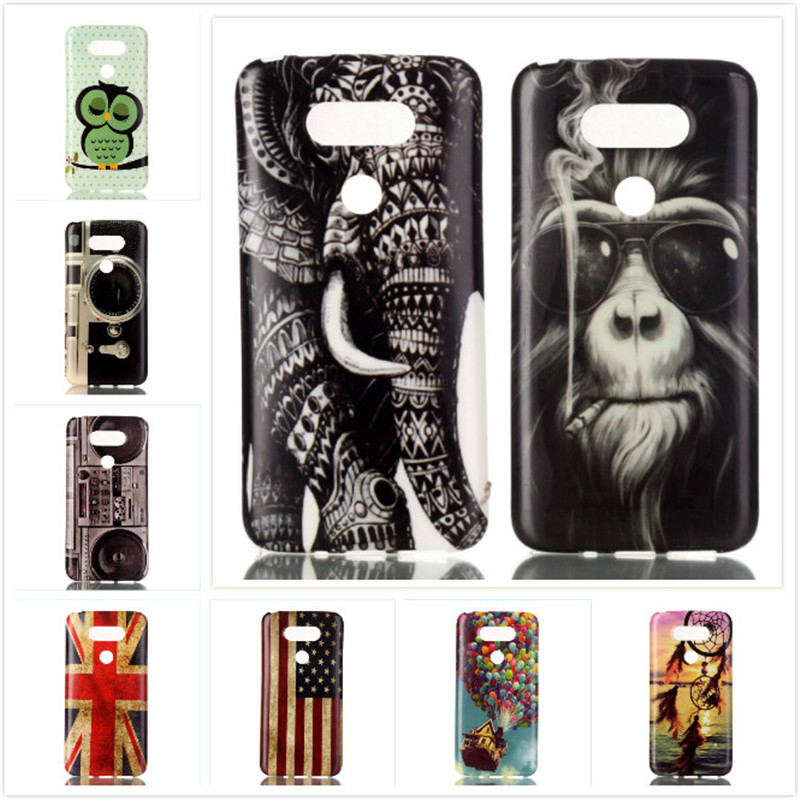 Retro Design Case Camera Monkey Elephant Silicone TPU Soft Back Cover for LG G5 / G5 Dual H850 H840 Phone Bag Protective Shell(China (Mainland))
