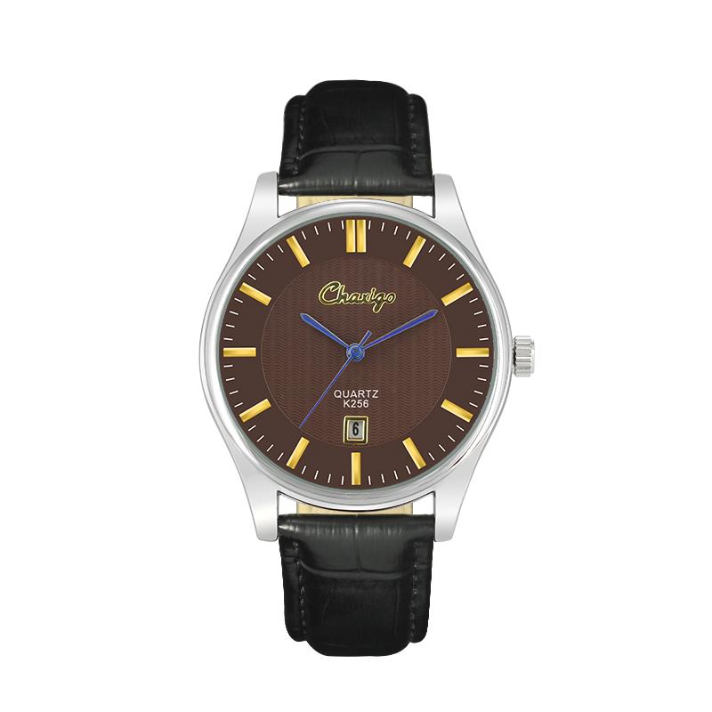 Chaxigo Quartz Watch Blue Glass Bussiness Calendars Designer Cheap Men's Women's Couple Wrist Watches gift Relogio Feminino(China (Mainland))