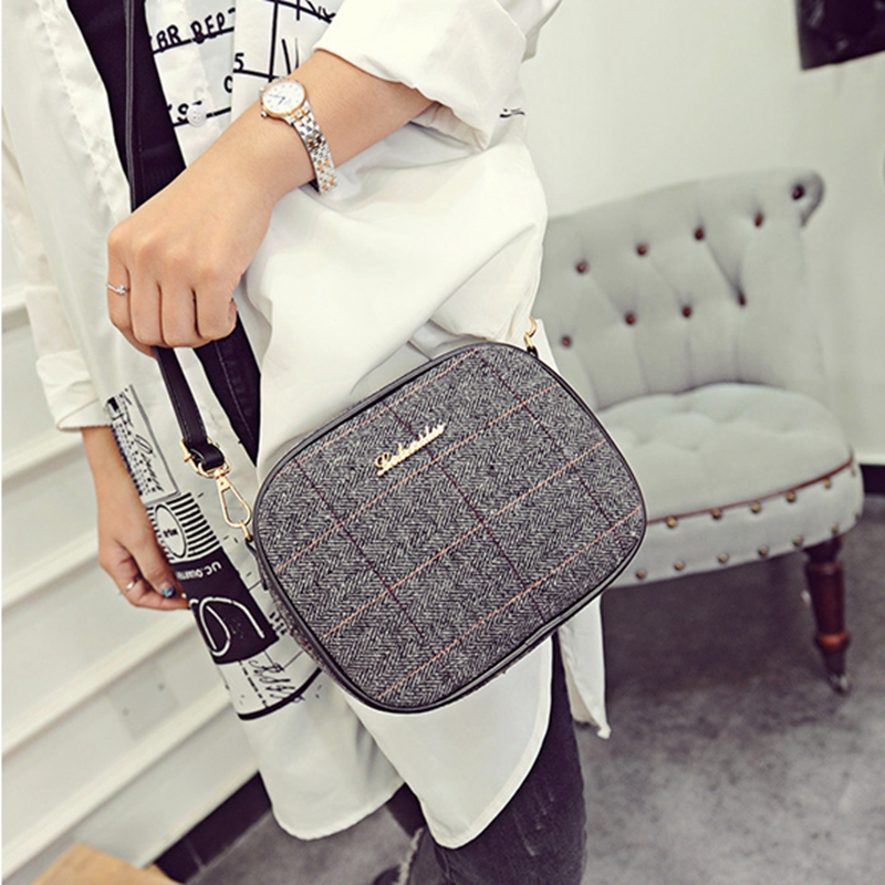women messenger bag 2016 new woolen cloth small square bag lady edition style single shoulder bag across the female bag(China (Mainland))