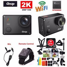 Free Shipping!Gitup Git2 Pro 16MP 2K Sports DV Action Camera Gyro Mini Camcorder+Mic+Remote Control+38pcs Accessories