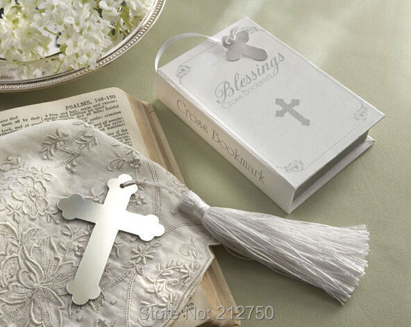 Express Free Shipping 60pcs/lot metal crucifix bookmark for wedding souvenirs wedding gifts for guests(China (Mainland))