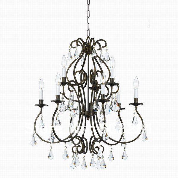 9 Light Classical Chandelier+  -  AUTUMN LIGHTING FACTORY store