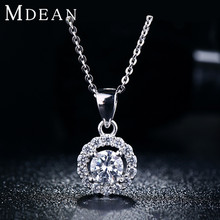 S925 Necklace Pendant white gold filled jewelry for women vintage wedding chain necklace wholesale 2015 New Arrived MSN001