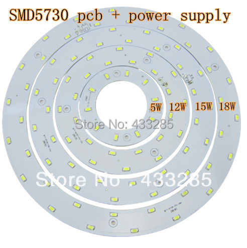 5W 12W 15W LED PANEL Circle Light 85V-265V AC SMD 5730,LED Round Ceiling board the circular lamp board for Dining room(China (Mainland))