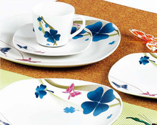 flying butterfly dinner set