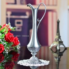 Free shipping selling hot  pewter plated metal flower vase for home decoration(China (Mainland))