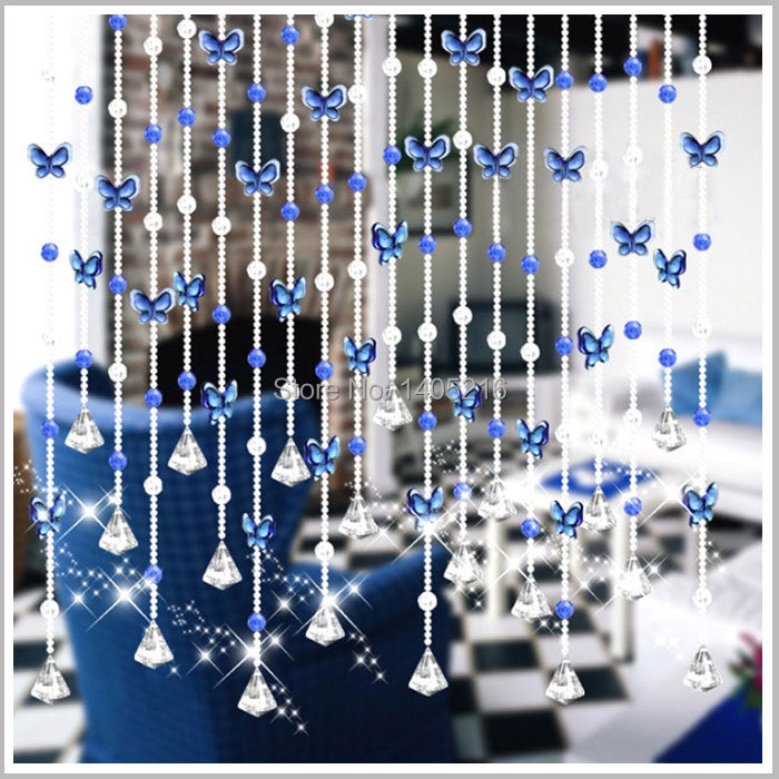 Bead curtain crystal partition curtain finished product crystal bead - Free Shipping Butterfly Bead Curtain Hanging Arch Half