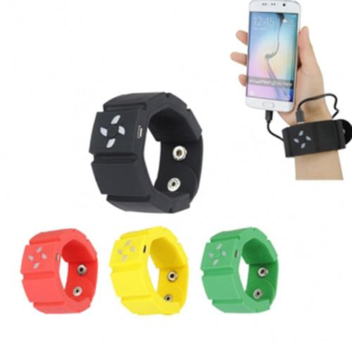 4 color Wrist Watch Style Band Phone Charger 2200mAh Ultra Compact Mobile Power Pack Portable USB Backup Charger power bank(China (Mainland))