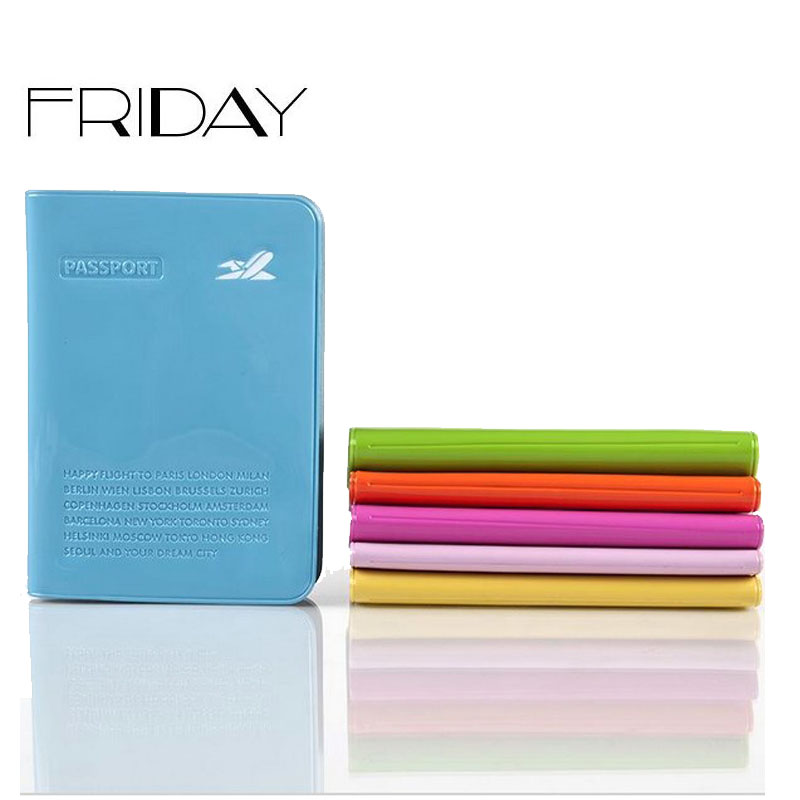 2015 special offder PVC passport holder fashion candy color passport cover credit card holder()