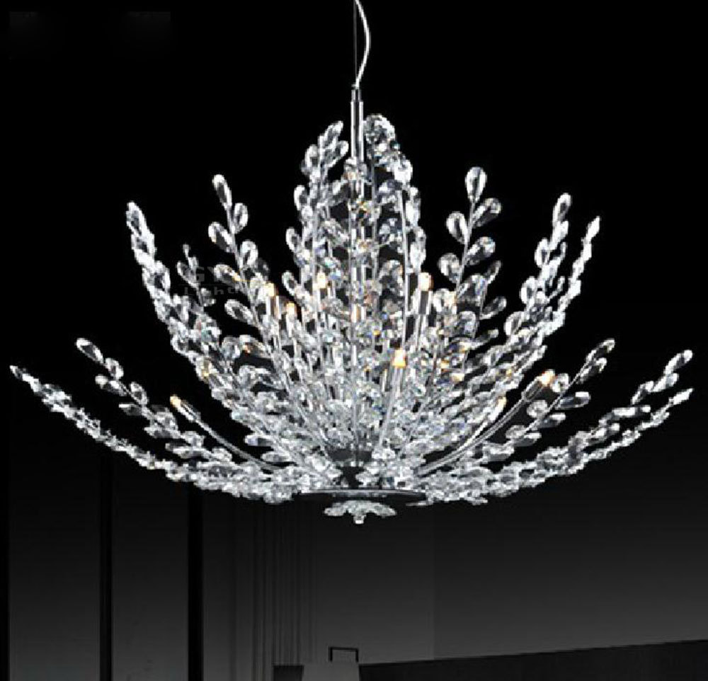 AC100-240V High end luxury chrome polished crystal pendant lights 2015 design lustres art deco home lighting luminaria lamps(China (Mainland))