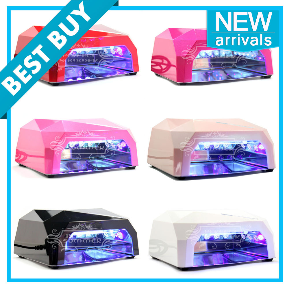 36W LED UV Lamp Nail Art Gel Polish Cure Dryer Timer Light 12W CCFL+24W LED<br><br>Aliexpress