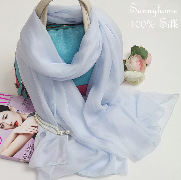 Bandana Scarf Summer Vocation Beach Suncreen Muslim Hijab 100% Silk Chiffon Scarves Pashminas Womens Silk Scarfs(China (Mainland))