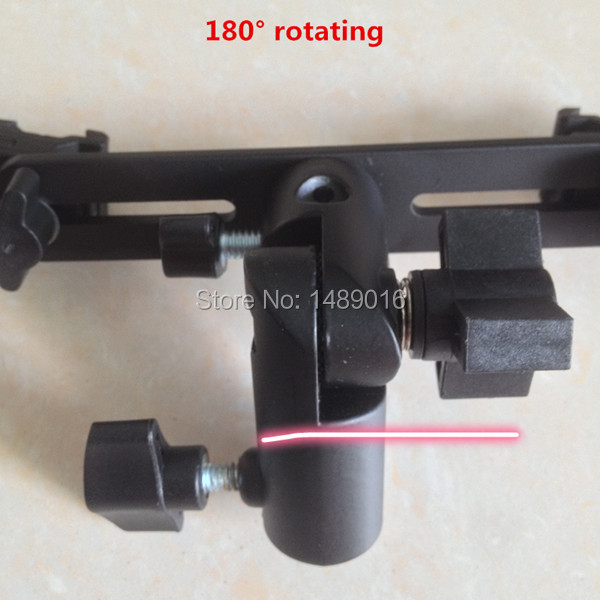 6pieces 180 degree rotating Dual Shoe Flash Bracket for Flashgun Digital DC Camera Arms Bracket and light stand<br><br>Aliexpress