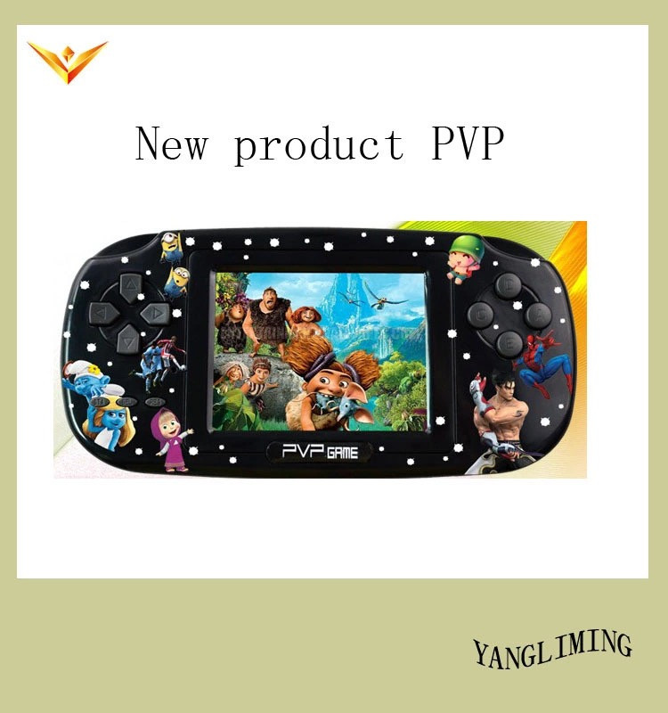 """PVP 8 Bit Video Game Console with 200+ Games, 3"""" TFT screen, TV out, MP3, MP4.(China (Mainland))"""
