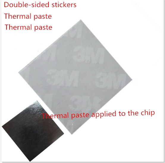 20 11*11mm 3M 8810 Thermal Compound Double Side Acrylic Adhesive Heat Sink Cooling Pad Tape - Filled aluminum Radiator Co., Ltd. store