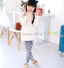 Sweet Trendy Kids Toddler Girls Leggings Pants Cosy Floral Printed Trousers Sz3 7Y Free Shipping
