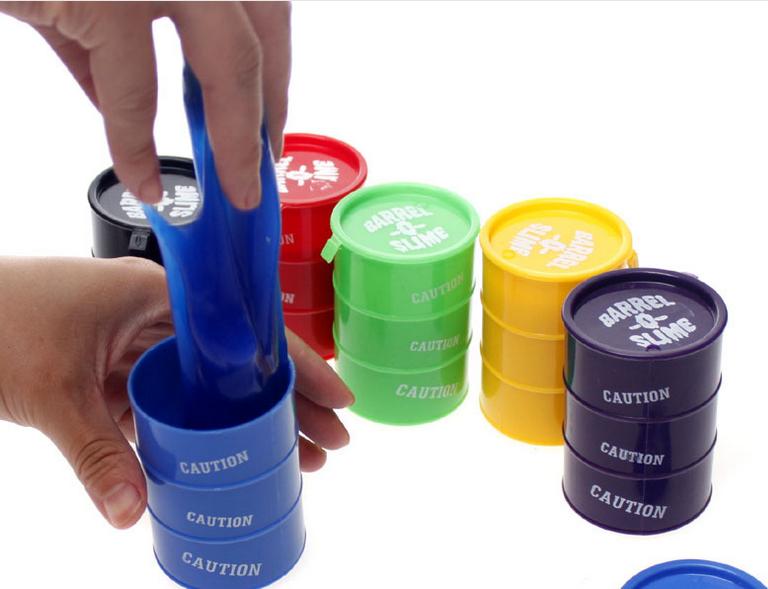 Colorful Barrel Slime Toy Gift Joke Gag Prank Trick Fool Party SourceBarrel-o-Slime Lizunov Toy(China (Mainland))