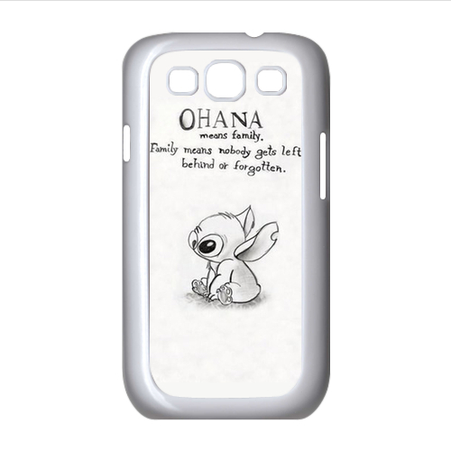 Animation Series Ohana Lilo and Stitch Unique for Samsung Galaxy S3 I9300 Custom Cell Phone Case Cover by Top DIY Wholesale(China (Mainland))
