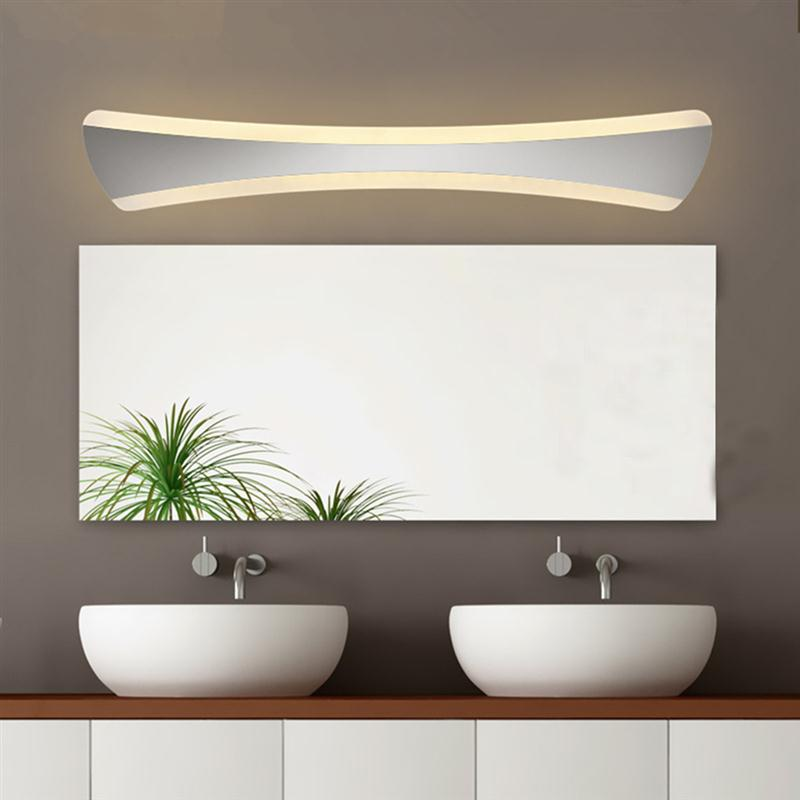 42CM Stainless Steel Bathroom Make Up Mirror Wall Light 14W Minimalist Moden LED Bath Wall Sconces Lamp Wandlamp For Home(China (Mainland))