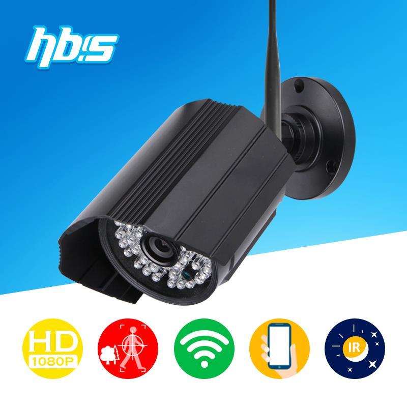 HBSS 2MP 1920*1080P Wireless Surveillance camera wifi 802.11 b/g/n IP 66 Waterproof night vision Onvif video Camera /Black(China (Mainland))
