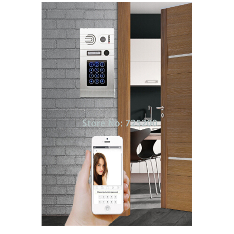 WIFI IP Video Door Phone Intercom System with POE And RJ45