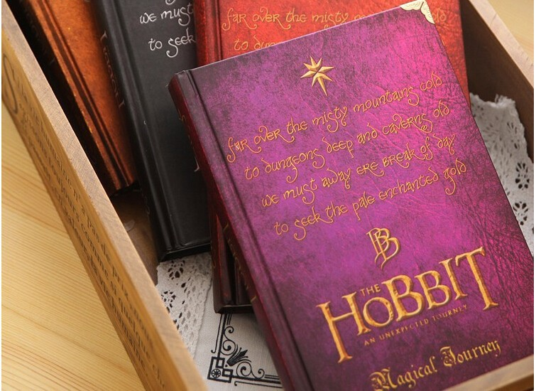 New Hobbit Notebook Vintage Hardcover Notebook for Gift Movie Hobbit Daily Memo Notepad Travel Journal A5 Size Four Designs2