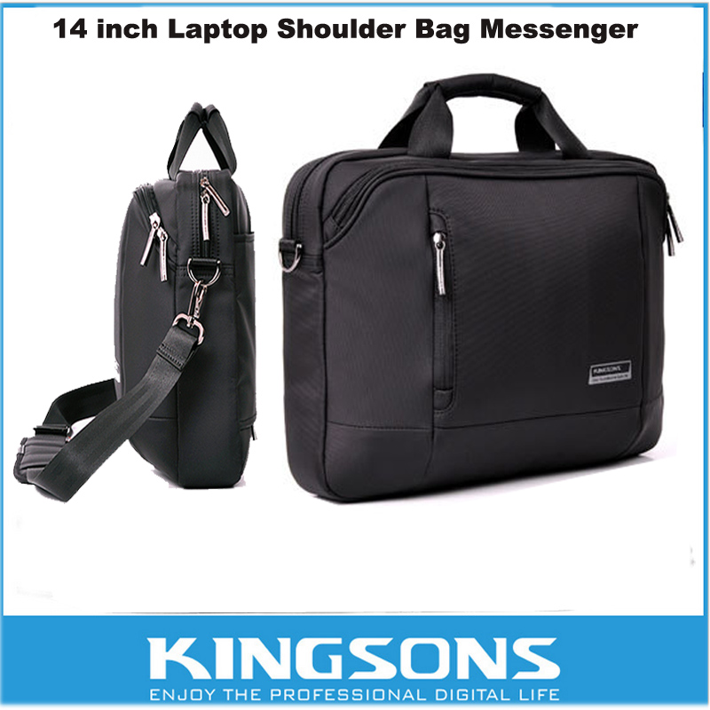 Kingsons 14 15 Inch Nylon Laptop Bag Shoulder Bag With Strap Multicompartment Messenger Hand Bag Tablet Briefcase For MACBOOK(China (Mainland))