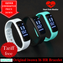 Buy IWOWN I6 HR Smartband Heart Rate Monitor Smart bracelet Sport Wristband Bluetooth 4.0 Smart Band Fitness Tracker VS Mi Band 1S for $18.83 in AliExpress store