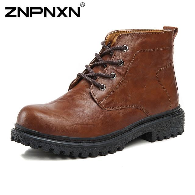 2015 новый бренд натуральная кожа мужчины сапоги мода мужчин зимние ботинки мужчины ...
