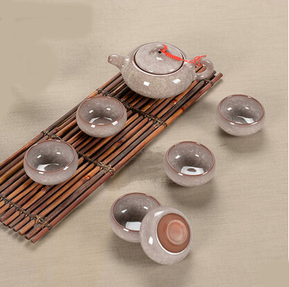 Tea set seven sets Lavender Kung Fu tea wholesale The highest sales of tea set The