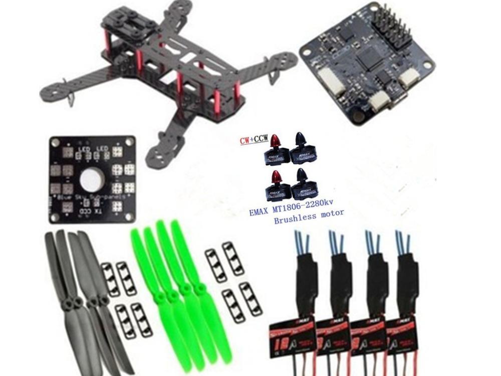 Здесь можно купить  QAV 250mm Quadcopter Frame w/Emax MT1806 Motors & Simonk 12A & 5030 Prop & CC3D QAV 250mm Quadcopter Frame w/Emax MT1806 Motors & Simonk 12A & 5030 Prop & CC3D Игрушки и Хобби