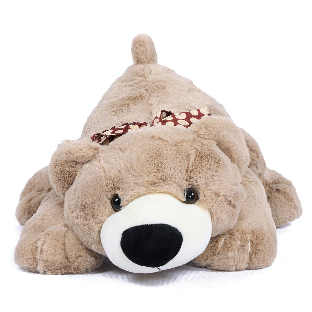 "JOYFAY 2016 New 18"" Soft Lying Bear 45cm Stuffed Animals Plush Toy Birthday Christmas gift Christmas gift(China (Mainland))"
