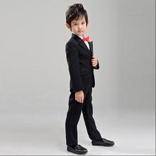 2015 bébé enfants blanc noir blazers vêtements garçons costumes pour les mariages costume et vêtement de mariage garçon enfants costume fleur garçon robe(China (Mainland))