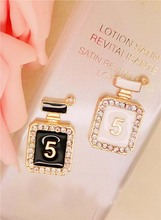 Buy Cute Perfume 5 Bottle Golden Metal Charm- 12pcs Charm Bracelet Gold Charms Planner Charm for $5.59 in AliExpress store