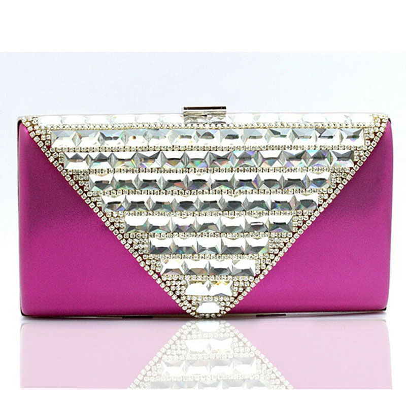Luxury Glass Rhinestone Evening Clutch Elegant Diamond Bridal Wedding Party Bag Chain Shoulder Bag Dinner Clutch Purse XA767A<br><br>Aliexpress