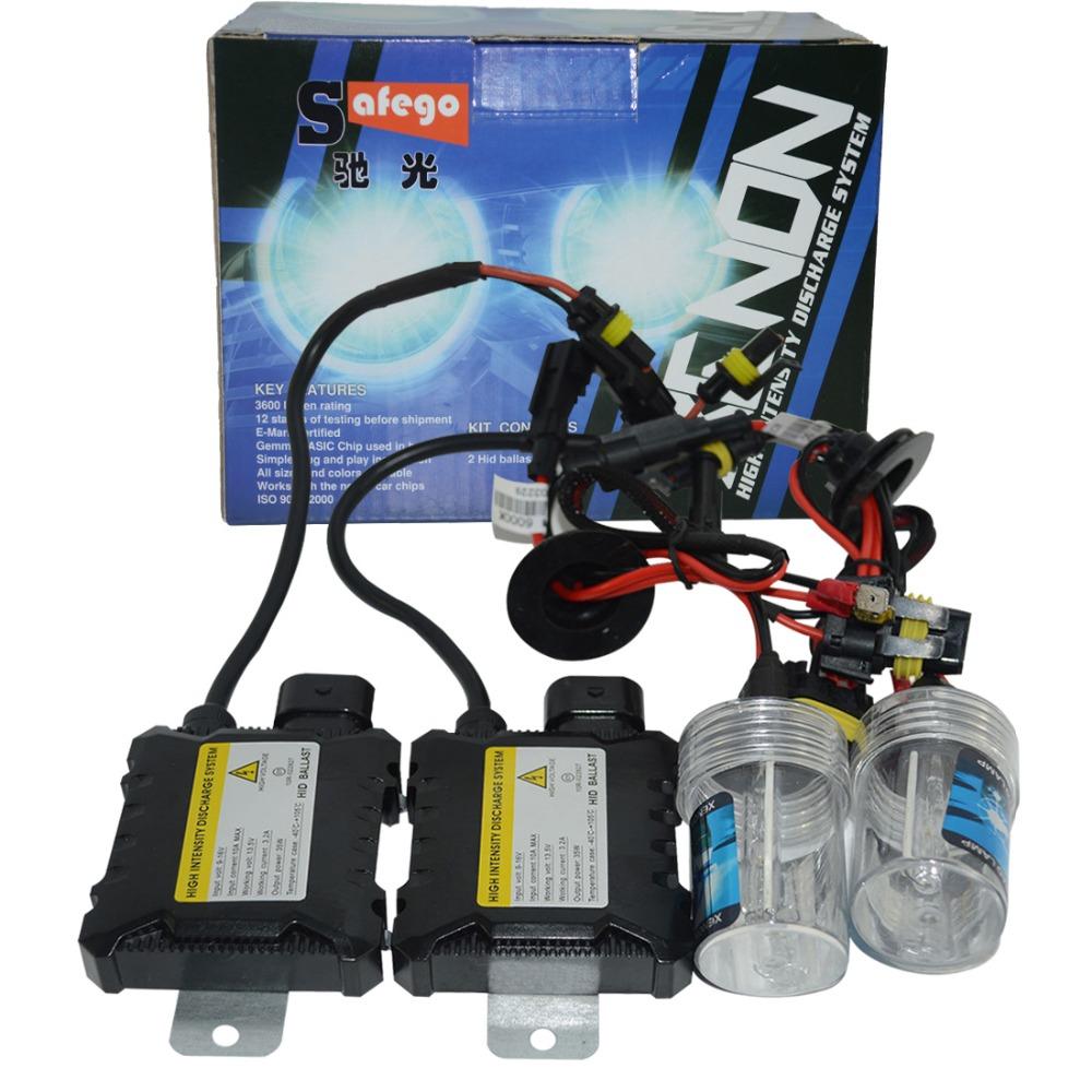 Slim Ballast kit Xenon Hid Kit 55W H4 H1 H3 xenon H7 H8 H10 H11 H27 HB3 HB4 H13 9005 9006 Car light source Headlight bulbs lamp(China (Mainland))